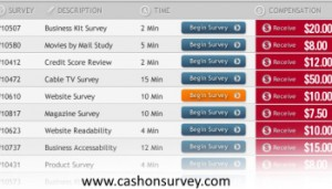 Take Surveys for Cash members area